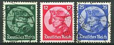 Germany Fredrick the Great 1933 Issues Complete Set 3 Used Scott's 398 to 400