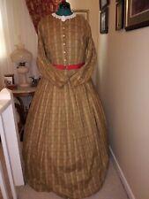 Civil War Reenactment Day Dress Size 24 Golden Brown