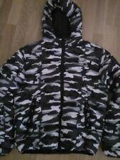 lotto 938 piumino giacca uomo militare bianco, grigio e nero NYC tg. L