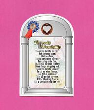 """Threads Of Friendship"" - Poem - Verse Card w / Heart Penny-sku# 852"