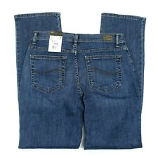 Women's Lee Relaxed Fit Straight Leg Blue Jeans (3051833) Meridian - 6M