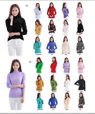 Muslim Women Tight T-shirt Tops Ramadan Turtleneck Long Sleeve Thin Undershirt