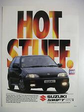 1993 SUZUKI SWIFT GTi HOT STUFF AUSTRALIAN MAGAZINE FULLPAGE ADVERTISEMENT