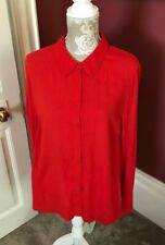 LAURA ASHLEY RED LONG SLEEVED BLOUSE UK 14