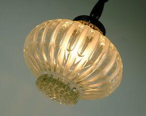 mid century PENDANT LIGHT bubble glass satin glass 1960s