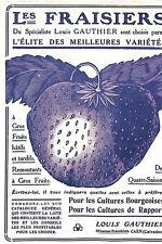 14 CAEN PUBLICITE LOUIS GAUTHIER SPECIALISTE FRAISES 1913
