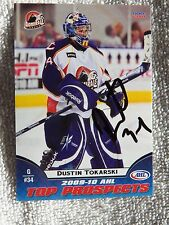 Tampa Bay Lightning Dustin Tokarski Signed 09/10 AHL Top Prospect Card
