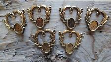 Heart Wreath Pendant Antique Hamilton Gold colored 10x14mm (pk 6) 0259