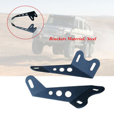 2×Off-road Vehicle Motorcycle Roof LED Light Strip  Steel Mounting Bracket New