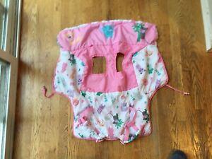 Goldbug Toddler Baby Jungle Animals Shopping Cart Cover Pink w/Adjustable Straps