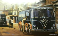 Foden Trucks Albion Sugar Commercial Vehicle Vintage Scene Art By Mike Jeffries