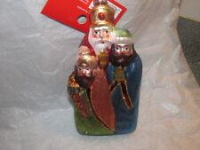Blown Glass THREE WISEMEN NATIVITY Christmas Ornament - New