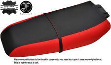 BLACK & RED CUSTOM FITS KAWASAKI ZXi 1100 900 96-02 VINYL SEAT COVER + STRAP