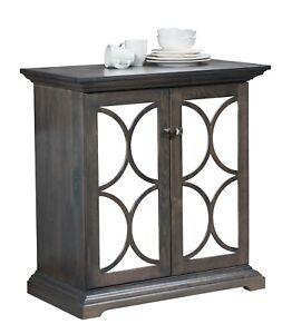 """Amish Transitional Sideboard Buffet 2-Door Mirrored Solid Wood Grey Jasmine 36"""""""