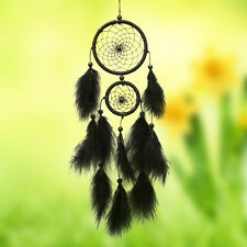 Black Handmade Dream Catcher with Feather Car Wall Hanging Decor Crafts Gift