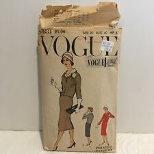 Vtg Vogue Special Design Pattern 4881 1958 Suit & Skirt Sz 20 Bust 40 Hip 42