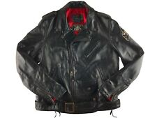 SCHOTT NYC X SAILOR JERRY PERFECTO NYC MOTORCYCLE JACKET XL LEATHER RARE VINTAGE