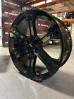 4  2018 Chevy Silverado Wheels OE Replica 22x9 Gloss Black DENALI CHEVY GMC