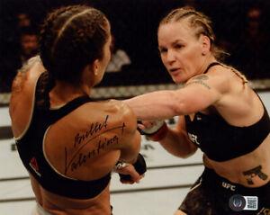 VALENTINA BULLET SHEVCHENKO SIGNED AUTOGRAPHED 8x10 PHOTO MMA UFC BECKETT BAS
