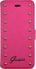 ETUI A RABAT FOLIO GUESS CLOUTE ROSE POUR IPHONE 6 PLUS