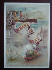 POSTCARD  GORDON HOTELS - WHERE TO STAY - STEAMER 'LA MARGUERITE' & A DEANS LOCO