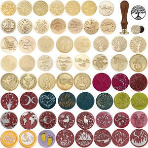Ideas Brass Head Wax Sealing Wooden Fire Paint Party Invitation Wax Seal Stamp