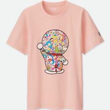 Uniqlo Doraemon Murakami T-Shirt Peach Pink - Size MEDIUM - rare - NWT