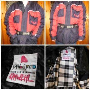 ✿Herren-Motorradjacke Gr.L-XL Protektoren♥KRAWEHL♥Futter♥viele Taschen