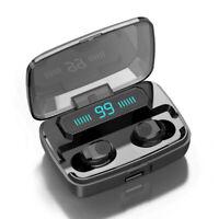 LED TWS Bluetooth 5.0 Headset Twins Wireless Headphone Stereo Earphones Earbuds*