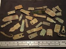 Lovely lot of Roman to Medieval bronze mainly strap ends & other artifacts L20y