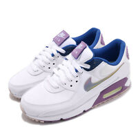 Nike Wmns Air Max 90 SE Easter White Purple Blue Women Casual Shoes CJ0623-100