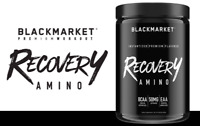 Blackmarket Labs RECOVERY AMINO 7g BCAA & EAA Blend 30 Servings BUILD MUSCLE