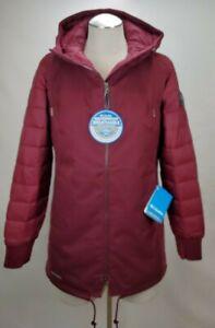 Columbia Womens Omni Tech Hybrid Jacket Coat XS Red Waterproof Insulated Hooded
