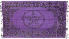 Pentagram Altar Cloth / Sarong, Purple: 44 x 72 (Wicca, Witch, Pagan)