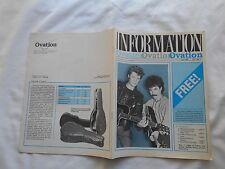 INFORMATION OVATION Magazine-JUNE,1983-VOL.1/NO.2-HALL & OATES