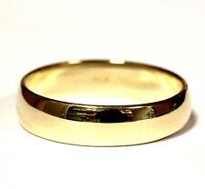 10k yellow gold 5.8mm mens wedding band ring 5.6g gents estate vintage