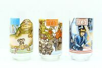 Vintage Star Wars Return of the Jedi Burger King Glasses Lot of 3