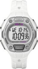 "NEW Timex TW5K89400 Women's ""Ironman"" 30-Lap White Strap Watch Alarm Indiglo"