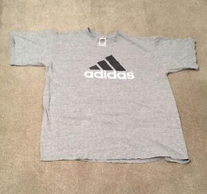Vintage Adidas Grey Logo T-shirt, Size XL