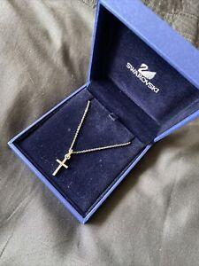 Swarovski Crystal Necklace Cross Boxed Pendant