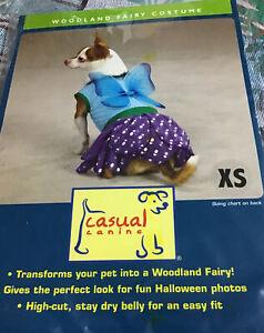 Casual Canine Halloween Woodland Fairy Dog Costume  Sz XS