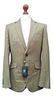 VIYELLA Mens Green 100% Wool Blazer Herringbone Blazer