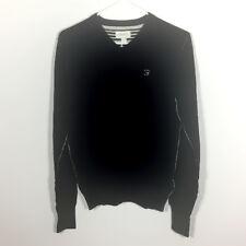 NWT Diesel Boys' Long Sleeve V-Neck Kansy Sweater Black Size XXL