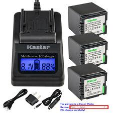 Kastar Battery LCD Fast Charger for Panasonic CGA-DU21 DU21 & NV-GS230 NV-GS250