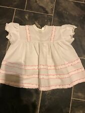 Vintage 60s St Michael Light Pink Made in England White Baby Suit 3-6 Months