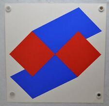 "Bob Bonies Original 1969 ""Red/Blue"" Mid century Modern Serigraph 80/200 (3)"