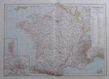 Karte aus 1889 - Frankreich - alte Landkarte old map