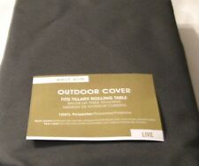 West Elm Tillary Rolling Table  Outdoor Furniture Cover  Color- Steel NIP