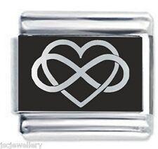 INFINITY HEART - Daisy Charms by JSC Fits Classic Size Italian Charm Bracelet
