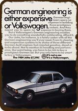 1984 VOLKSWAGEN JETTA VW SPORTS CAR Vintage Look Replica Metal Sign